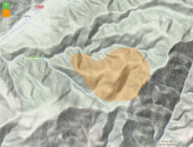 incendio-Jerte-mapa-agosto_EDIIMA20160825_0192_5