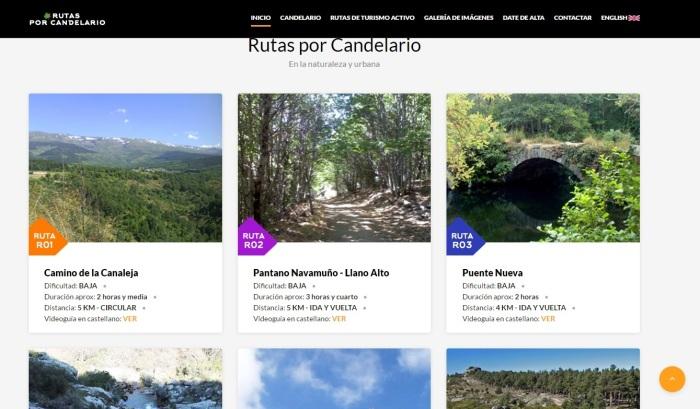 web candelairo turismo
